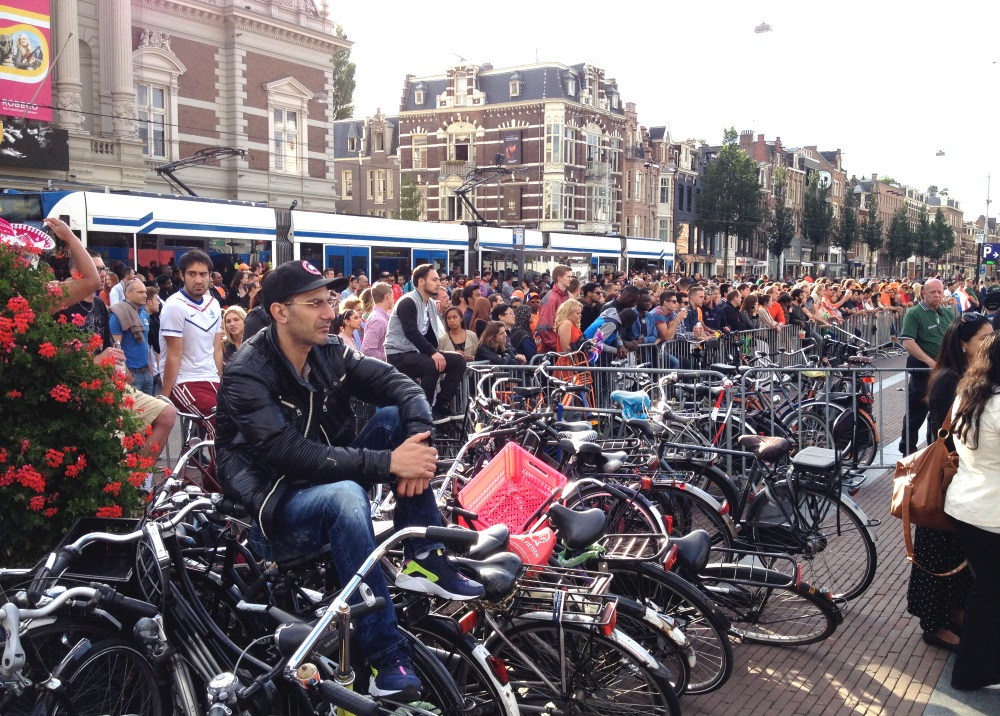 Amsterdam crowd watches the World Cup, 2014