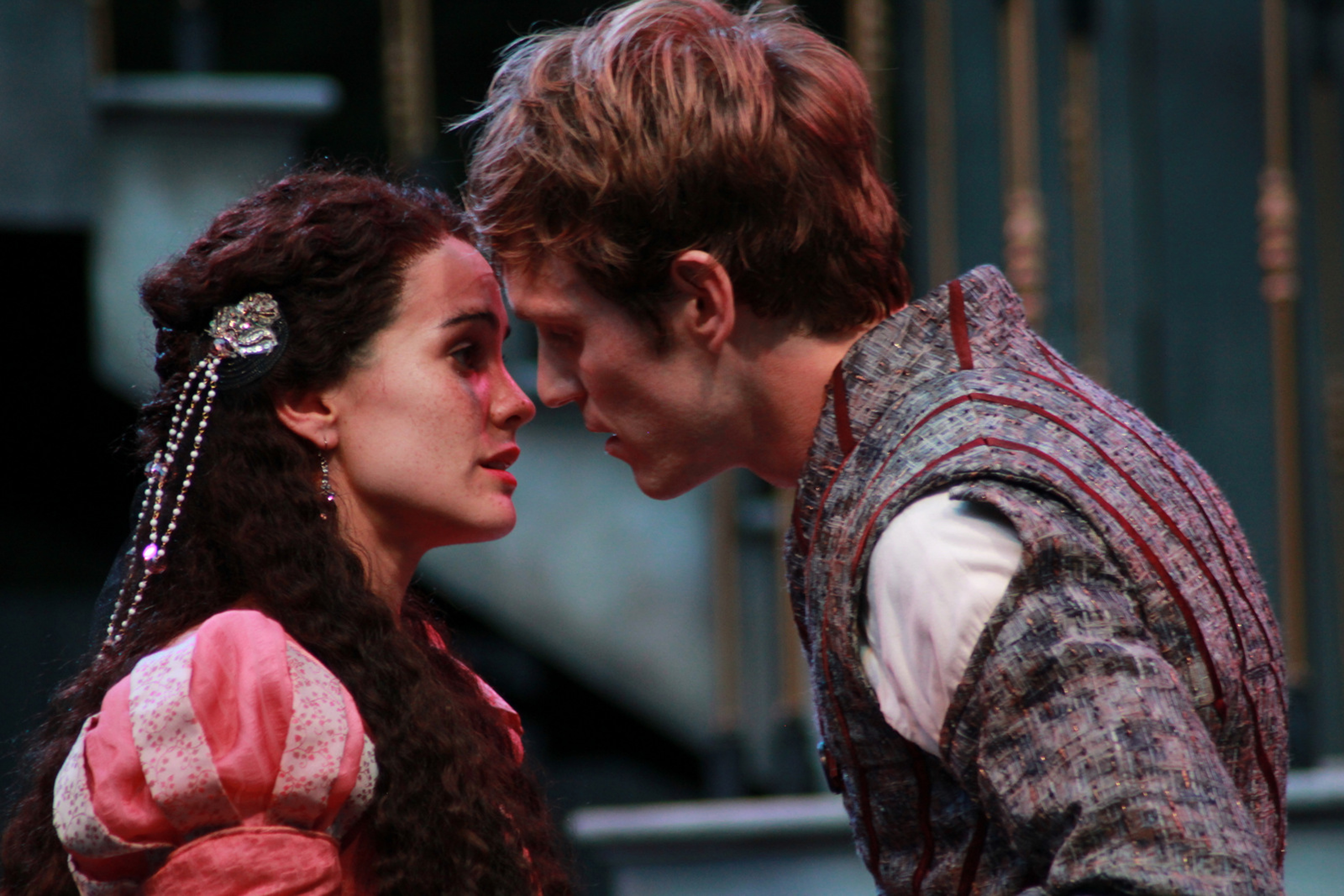 Melisa Pereyra and Christopher Sheard in Romeo and Juliet, 2014. Photo: Carissa Dixon.