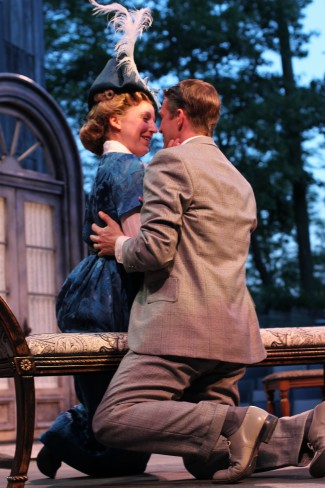 Cristina Panfilio and Matt Schwader in The Importance of Being Earnest, 2014. Photo: Carissa Dixon.