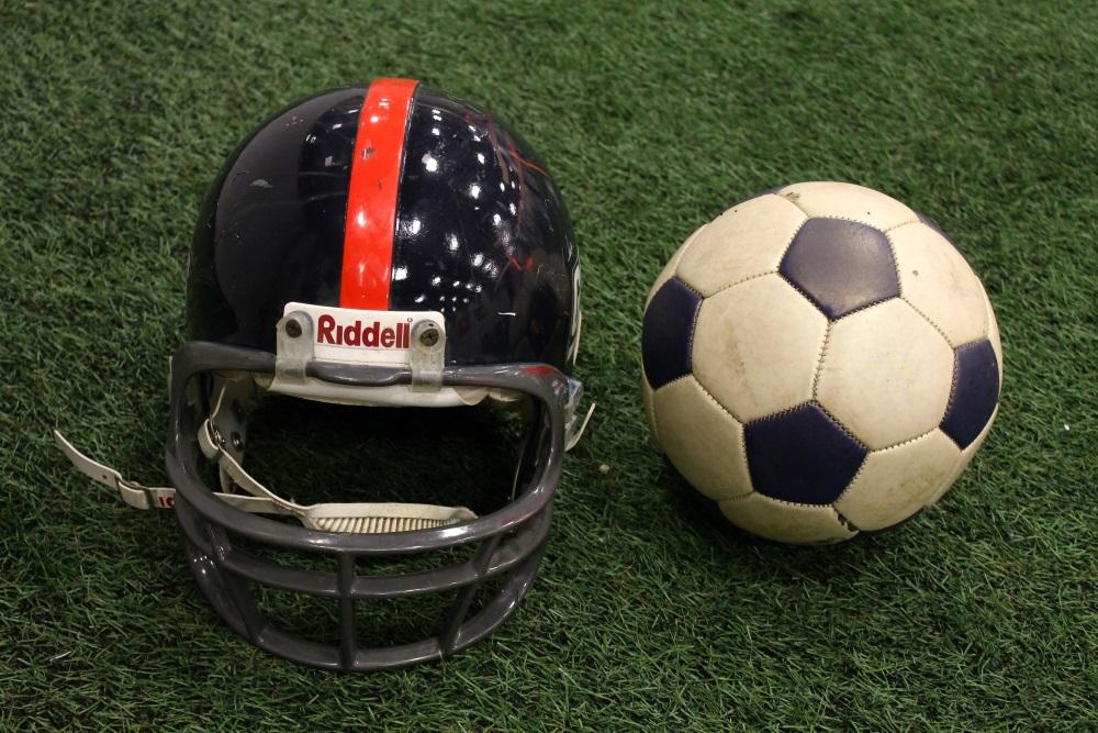 Writer's peewee football helmet.