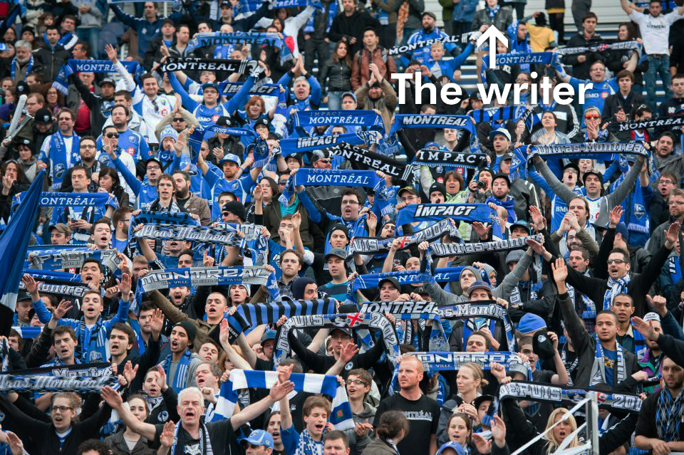 Writer among the Montreal Impact Ultras, 2012