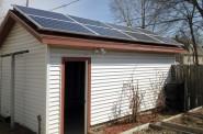 Solar Panels at 2830 N. Booth St. Photo by Joe Kelly.