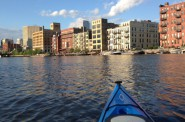Kayaking through the Historic Third Ward. Photo courtesy of Beth Handle.