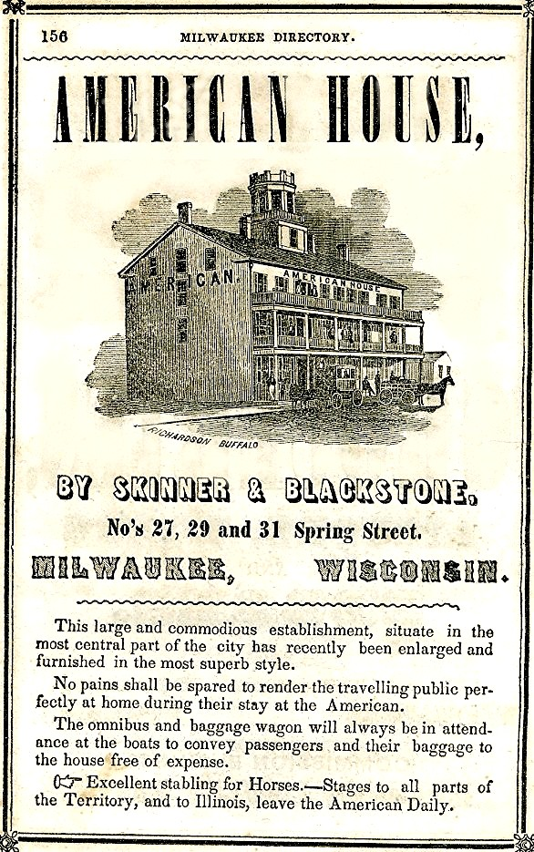 American House Hotel Ad, 1848
