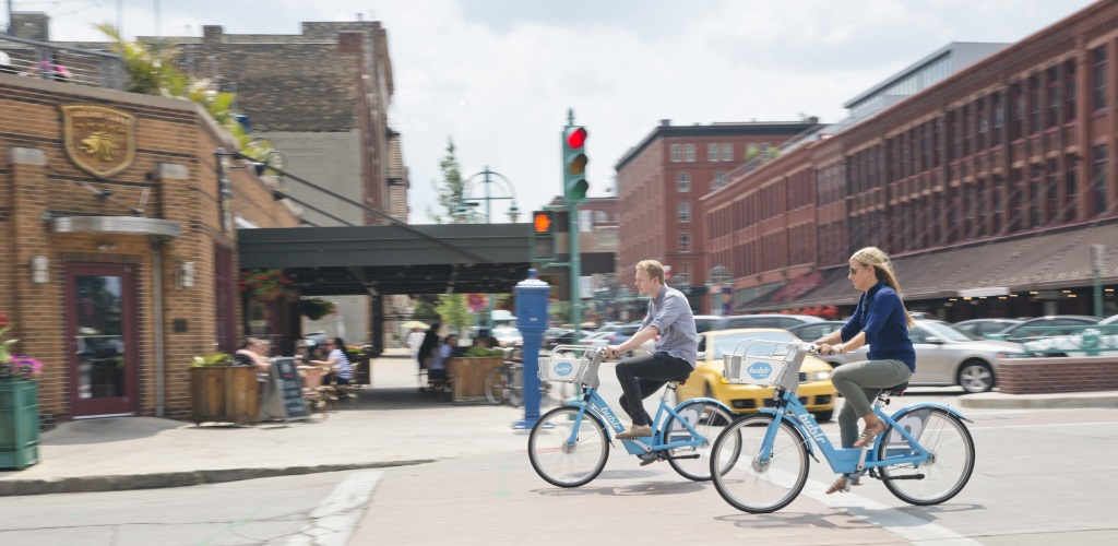 Bikes Milwaukee Bublr Bikes hit the streets of