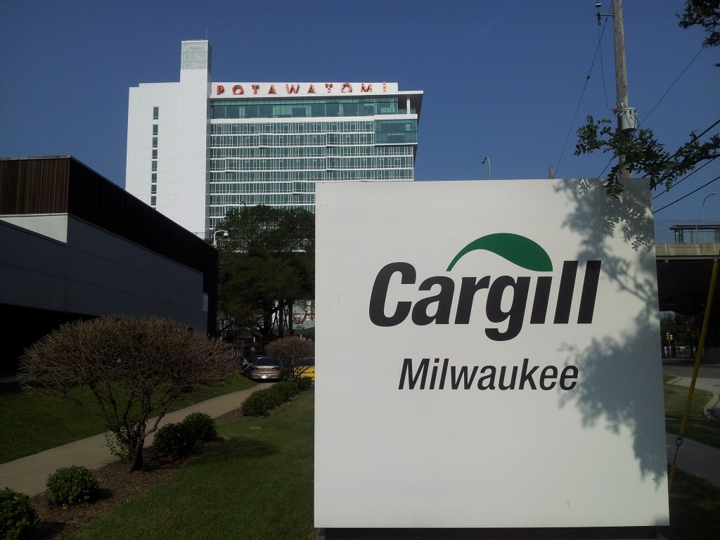 Cargill owns 10 properties on West Canal Street, several of which are a block from the Potawatomi Casino. (Photo by Edgar Mendez)