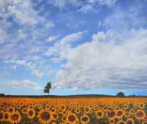 Cathy Martin -Partly Cloudy with a Chance of Sun Flowers