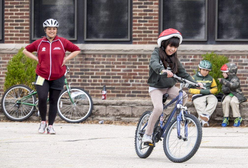 It is a special treat to see kids' faces light up when they pedal a bicycle on their own for the first time. Our instructors take time to teach those kids who never learned how to ride a bicycle.