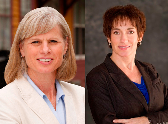 Mary Burke and Susan Happ