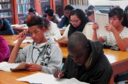 College Possible students prepare for the ACT test. (Photo courtesy of College Possible)