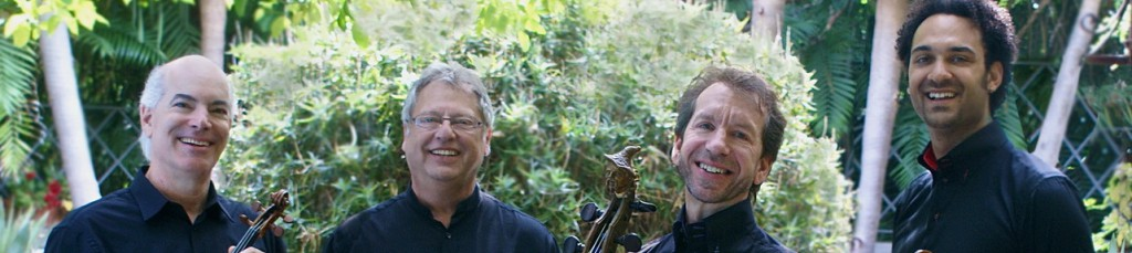 Violinists Ralph Evans and Efim Boico, cellist Robert Cohen, with Juan-Miguel Hernandez continuing this season as violist