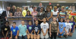 Winning principals and students from Milwaukee Spanish Immersion School join MPS Acting Superintendent Dr. Darienne Driver and MPS Title I Coordinator Martha Kreitzman in honoring MPS' 2014-15 Wisconsin Title I Schools of Recognition