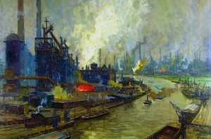 Erich Mercker: Painter of Industry has opened at the Grohmann Museum.