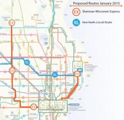 Sherman-Wisconsin Express Route Map
