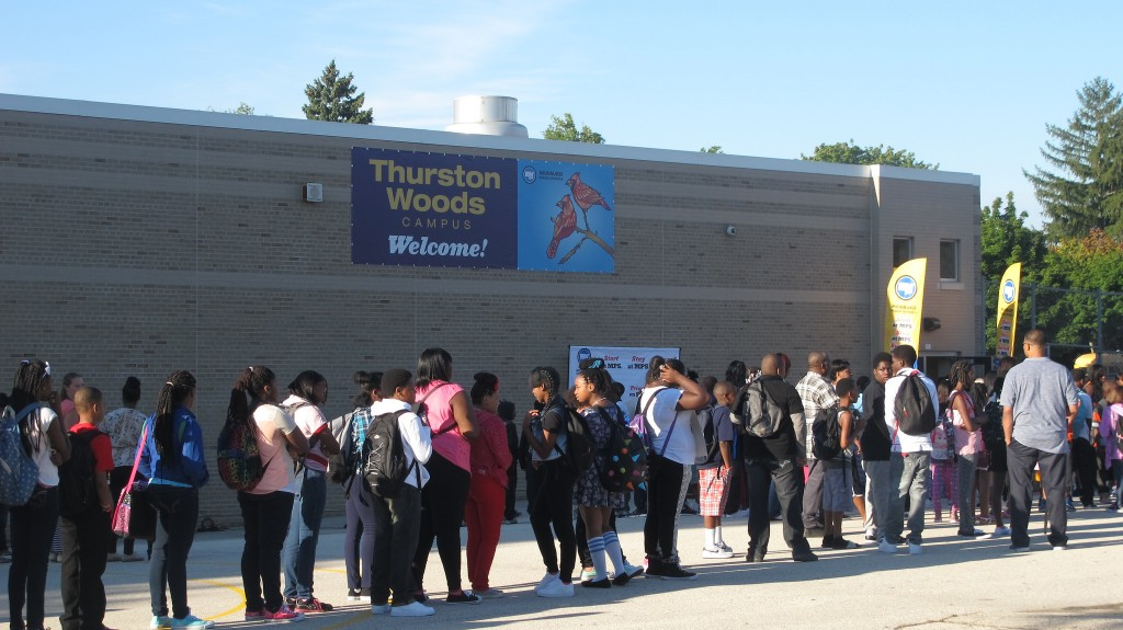 The first day of classes at Thurston Woods marked the beginning of a three-year, initiative to increase academic performance. (Photo by Molly Rippinger)
