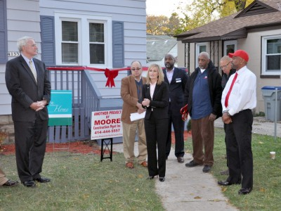 Corridor of Dreams: Celebrating the First Homeowner in New Program