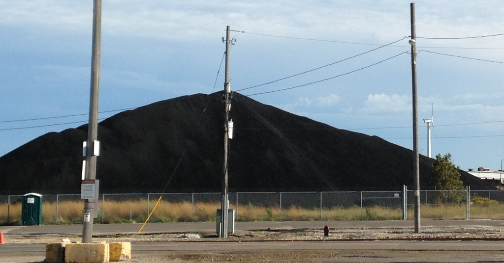 Coal pile. Photo by Dave Reid.