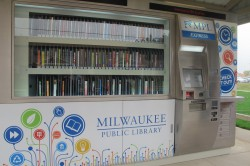 MPL Express at Silver Spring is the fourth library in the nation to use this technology-based model to check out books. (Photo By Raina J. Johnson)