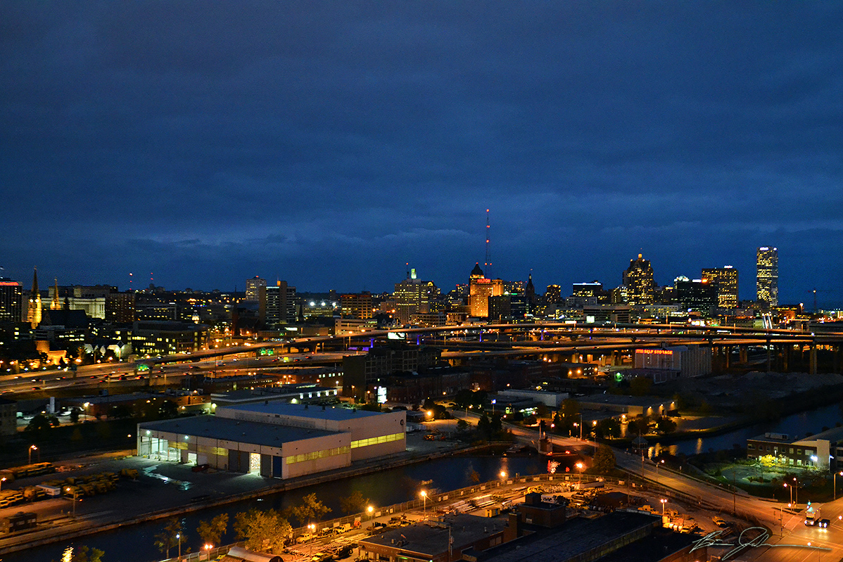 View from the Potawatomi Hotel and Casino. Photo by Brian Jacobson.