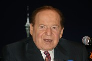 Billionaire Sheldon Adelson at a June 10, 2010, press conference in Hong Kong. Credit: Bectrigger / Wikipedia.