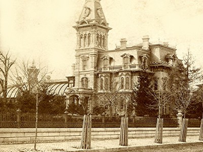 Yesterday's Milwaukee: Exterior of Alexander Mitchell's Mansion, Mid-1870s