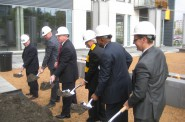 On Monday, October 13, Mandel Group broke ground on the third phase of The North End. Photo by Michael Horne.