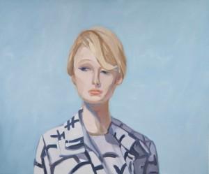 Janet Werner, Paris (Blue) 45 x 54 in., oil on canvas, 2010.