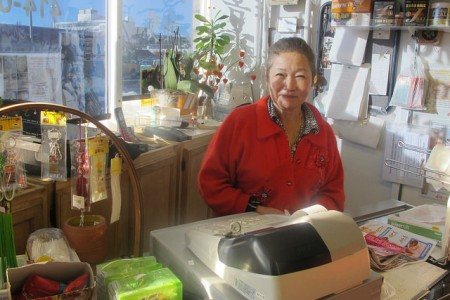 Kim I. Vanselow, who owns Hometown Market, 3174 S. 27th St., said the construction has reduced her business by 50 percent compared to last year. (Photo by Edgar Mendez)