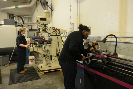 Students get hands-on training in a Job Corps class. (Photo by Sue Vliet)