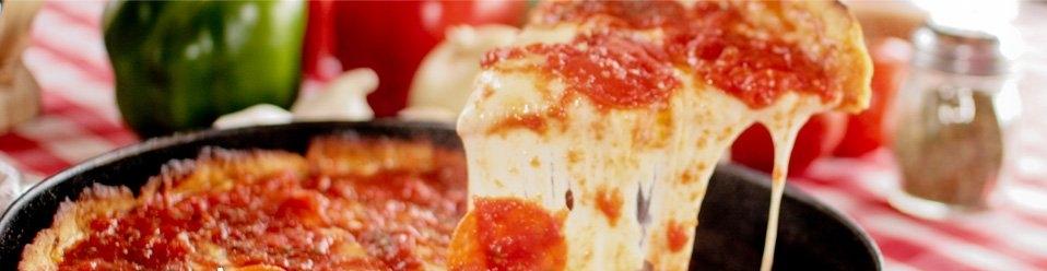 Pizano's Deep Dish Pizza.