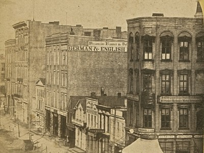 Yesterday's Milwaukee: Market Square, Late 1860s