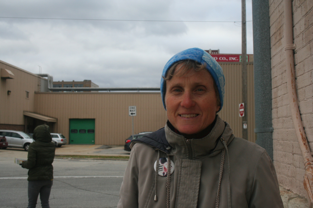 Anne Franczek stands outside Planned Parenthood in Milwaukee's Historic Third Ward.