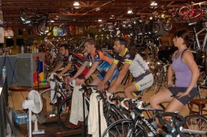 One of the Computrainer sessions at Crank Daddy's