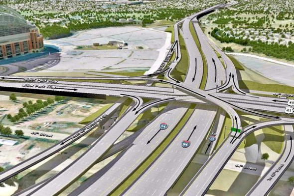 Stadium Interchange. Credit: WisDOT.