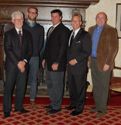 The 2015 Milwaukee/NARI Executive Officers: (l-r) Bill Wandsnider, Vice President; Josh Brown, Secretary; Greg Adamec, President; David Pekel, MCR, UDCP, CAPS, Chairman of the Board; and Dan Callies, CR, UDCP, Treasurer.