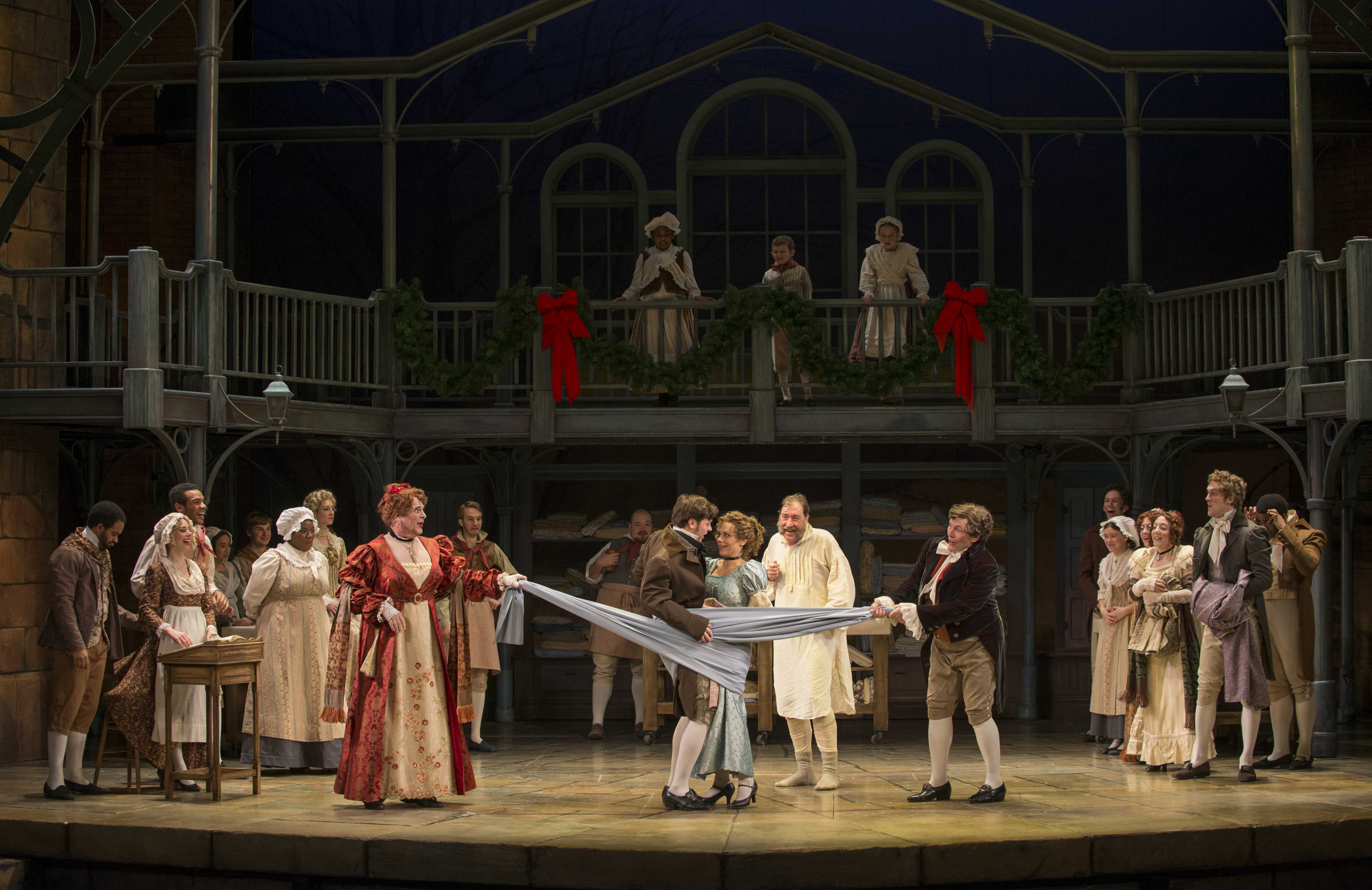 A scene from Milwaukee Repertory Theater's 2013/14 production of A Christmas Carol. Photo by Michael Brosilow.