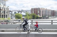The bike plates on the Young Street Bridge