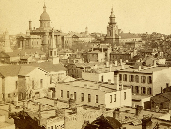 Yesterday's Milwaukee: East Town and Second Courthouse, 1875