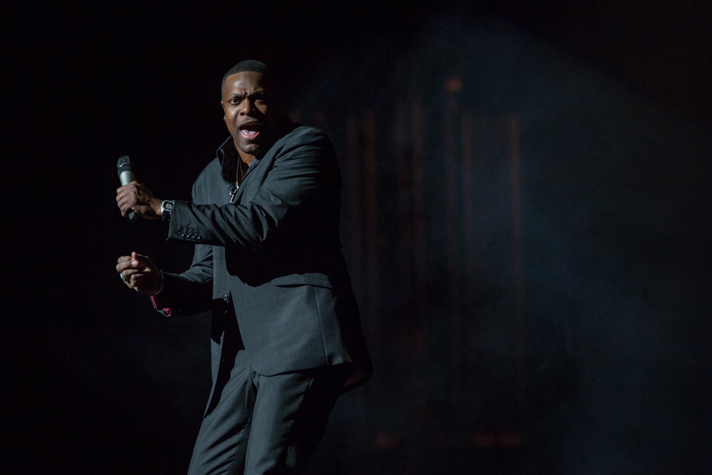 Chris Tucker at the Riverside Theater Friday, January 23. Photo by Adam Miszewski.
