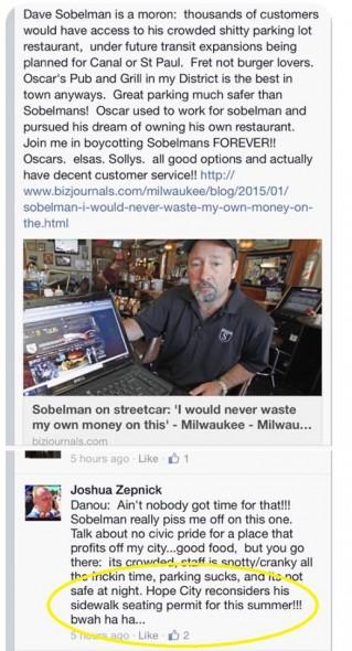 Representative Zepnick's comments