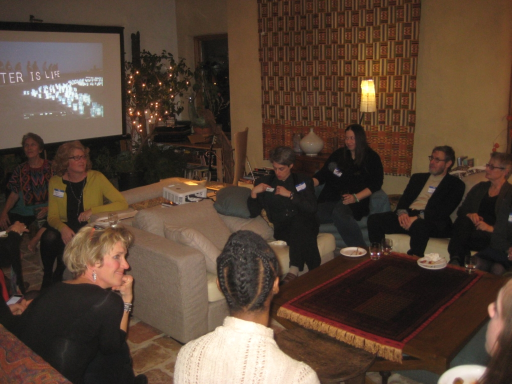 Members of the Milwaukee River Commons gather at Julilly Kohler's home on January 21st.. Photo by Michael Horne.