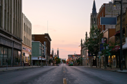An early morning on Historic Mitchell Street, which is part of BID #4 (Photo by Adam Carr)