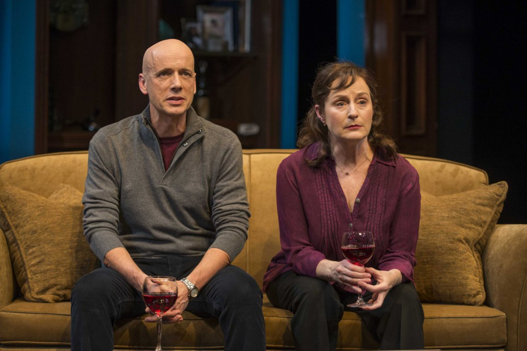 Michael Elich and Laura Gordon in Milwaukee Repertory Theater's 2014/15 Quadracci Powerhouse production of Good People. Photo by Michael Brosilow.