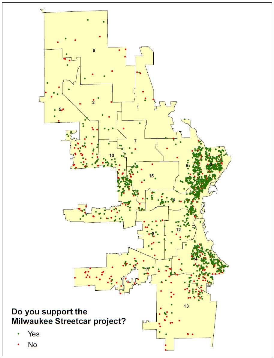 Streetcar Response Map