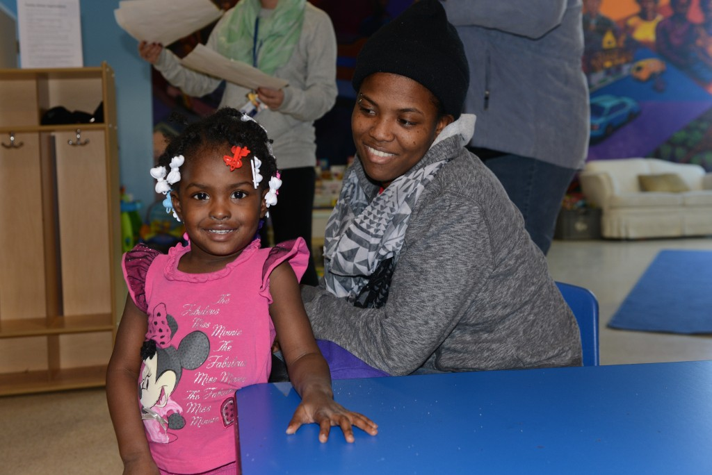 The Ford Family enjoying their time at 'drop-in' at The Gill Family Resource Center at the Goldin Center. (Photo by Sue Vliet)