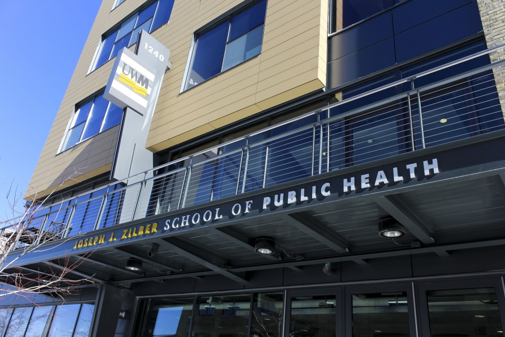 The UW-Milwaukee's Zilber School of Public Health, 1240 N. 10th St., is located in the Brewery, a complex near downtown that once housed the sprawling Pabst Brewing complex. (Photo by Alhaji Camara)