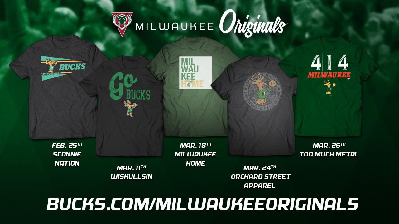 Bucks to Bring Back 'Milwaukee Originals' T-shirts