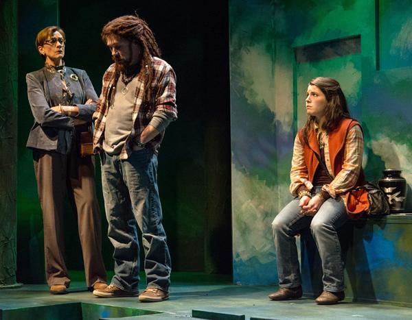 L-R - Carrie Hitchcock (Val), T. Stacy Hicks (Mel), Sara Zientek (Sky). Photo by Ross Zentner.