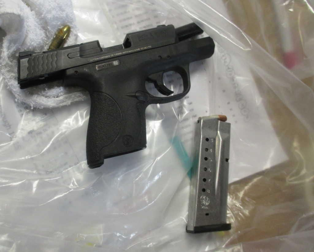 The firearm had a round in the chamber and a full magazine.