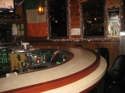 The bar at Halliday's. Photo by Michael Horne.